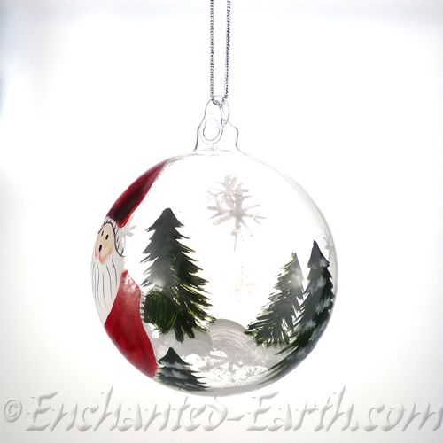 Hand Painted Glass Globe Decorations Chosse Form Santa Or